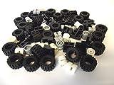 LEGO - 72-teiliges Räder, Reifen und Achs-Set. Lieferung erfolgt wie abgebildet.