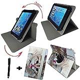 Tablet Tasche für Acer Iconia One 10 (B3-A32) Schutz Hülle Etui Case + Touch Pen - 10.1 Zoll Katze 2 360_