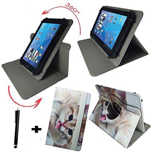 Street Scanner Hip (Tablet Tasche für Hip Street Phantom 2 Schutz Hülle Etui Case + Touch Pen - 10.1 Zoll Katze 2 360_)