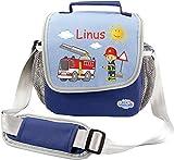 Mein Zwergenland Kindergartentasche Happy Knirps mit Namen & Wunschmotiv, 4 L, blau