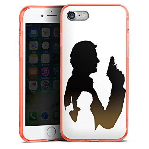 Apple iPhone 8 Silikon Hülle Case Schutzhülle James Bond Film Silikon Colour Case neon-orange