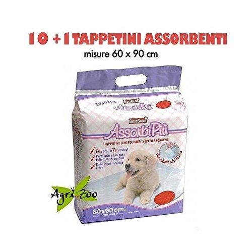 11 Tappetini Assorbenti Assorbipiù, Misura 60 x 90
