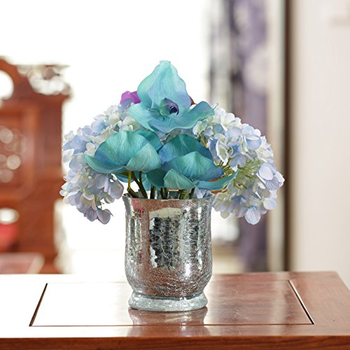Jhdh2-continental Ice Crack Glass Vase Of Transparent Water Container Ornaments, Flower 3