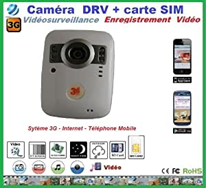 camera surveillance avec carte sim 3g et carte sd sans fil high tech. Black Bedroom Furniture Sets. Home Design Ideas