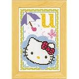 Vervaco - Kit para cuadro de punto de cruz, diseño de Hello Kitty con la letra U, multicolor
