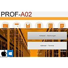 PROF-A02 Rechnungsprogramme Rechnungen Kundenverwaltung Angebote Produkte Dienstleitungen Arbeitsleistung Lagerbeststand Handwerker kleine Firmen Unternehmen GoBD Windows Mac