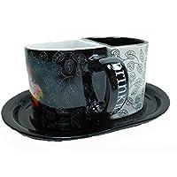 Disney Kaffeetasse Tasse Mug Pott Kaffee matt grau Alie im wunderland