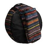 Mxfans Snare Kit de bolsas de almacenamiento con diseño de bolsillo, multicolor