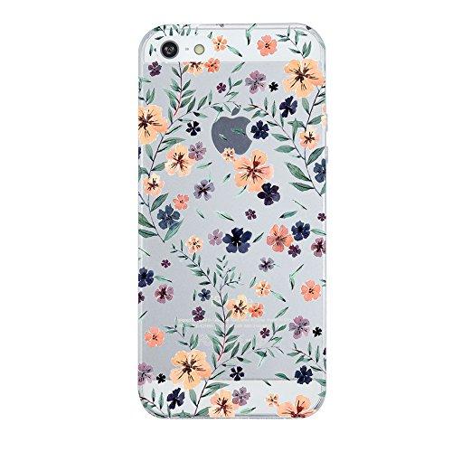iPhone 5/5s/SE Hülle, Vanki® Premium TPU Silikon Schutzhülle Flexibel Crystal Case Cover Bumper Stoßfest Durchsichtig Handyhülle für iPhone 5/5S/SE (iPhone 5/5s/SE, 4)