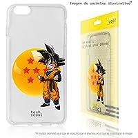 FunnyTech® Funda Silicona para iPhone 6 /iPhone 6S [Gel Silicona Flexible Alta Calidad] [Ultra Slim 1,5mm-Gran Resistencia] [Diseño Exclusivo, Impresión Alta Definición] [Goku dragon ball]