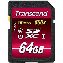 Transcend Ultimate-Speed SDXC Class 10 UHS-1 64GB Speicherkarte (bis 90MB/s Lesen, 600x) [Amazon frustfreie Verpackung]