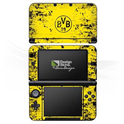 DeinDesign Nintendo 3 DS XL Folie Skin Sticker aus Vinyl-Folie Aufkleber Borussia Dortmund BVB Fanartikel