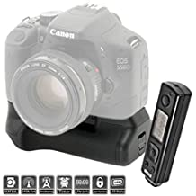 "LCD temporizador de empuñadura de batería para Canon 700d, 650d, 600d, 550d, ""La función del temporizador mediante mando a distancia, doble capacidad portrait-like la BG-E8"