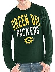 """Green Bay Packers G-III NFL """"Ringer"""" Men's Long Sleeve Thermal shirt Chemise"""