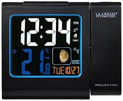 La Crosse Technology WT551 Réveil Radio Piloté avec projection Ecran Couleurs - Noir de La Crosse Technology