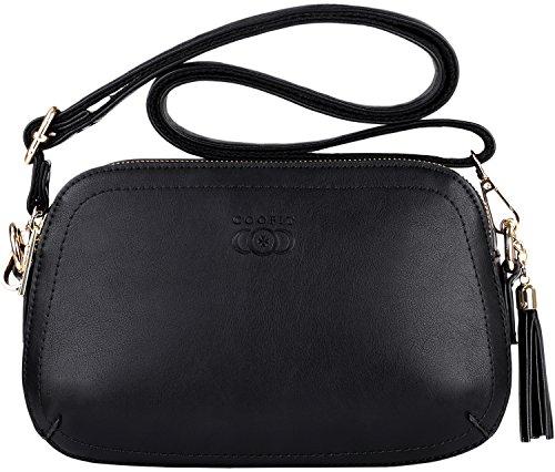 Coofit borse donna tracolla piccole moda crossbody bag nere