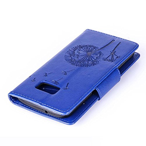 Uming® spéciales Séries Motif Colorful Imprimer cas PU Holster Case ( Diamond Embossing Dandelion Black - pour IPhone 5S 5 5G SE IPhone5S IPhoneSE ) Artificial-cuir flip avec support Stander titulaire Diamond Embossing Dandelion Blue
