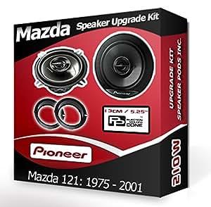Mazda 121 PORTIERE ARRIERE haut-Parleurs de voiture Adaptateur pour autoradio Pioneer anneaux pods 210 Watts