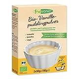 Frusano JETZT NEU! Bio Vanille-Pudding mit Getreidezucker, 3er Pack (3 x 180 g)