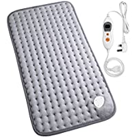MARNUR Electronic HeatingPad withAutoShutOffand6Levels TemperatureSettingsfor Back Neck Abdomen Legs Feet Warming SoftPlush Blanket Comfort and Cosy MusclePain and Stress Relieving -12*24in