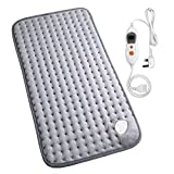 MARNUR Electronic Heating Pad with Auto Shut Off and 6 Levels Temperature Settings for Back Neck Abdomen Legs Feet Warming Soft Plush Blanket Comfort and Cosy Muscle Pain and Stress Relieving -12*24in