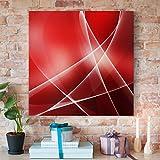 Bilderwelten Cuadro en lienzo - Red Heat - Cuadrado 1:1, cuadros cuadro lienzo cuadro de lienzo cuadro sobre lienzo cuadro moderno cuadro decoracion cuadros decorativos cuadro xxl, Tamaño: 100cm x 100cm