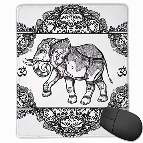 dges, Asian Ethnic Design Floral Frame Animal Symbol Of Rain Bringing Print,Gaming Mouse Pad Non-Slip Rubber Base ()