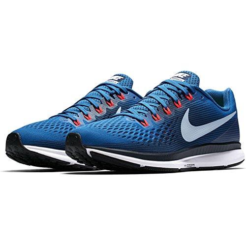 Nike Air Zoom Pegasus 34, Chaussures de Fitness Homme Mehrfarbig (Blue Fox/Black-Bright Crimson 403)