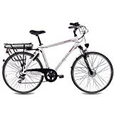 CHRISSON 28″ Zoll CITYRAD ALU Fahrrad E-Bike PEDELEC E-Gent mit 7G Shimano Weiss 53cm- 71,1 cm (28 Zoll) - 2