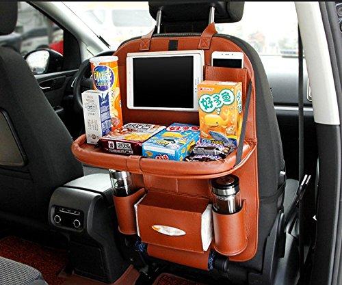 Preisvergleich Produktbild automobil - storage bag, sitz hängenden tasche - tasche, klapptisch für auto -, leder - tasche zurück stuhl, gepäck, auto - artikel,Brown - 1