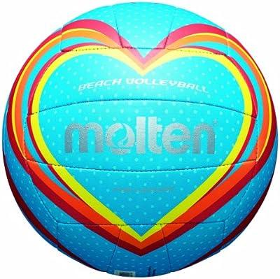 molten Volleyball - Balón de voleibol para exterior ( cuero, outdoor ), color azul, talla 5