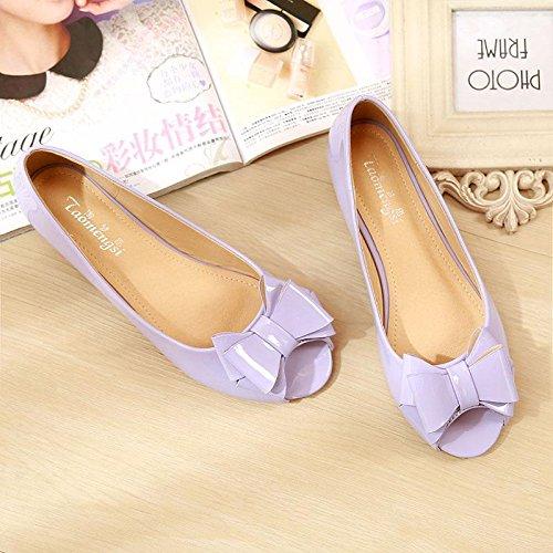 &qq Poissons bouche chaussures, chaussures plates, chaussures dames, plat avec des sandales pour femmes 38