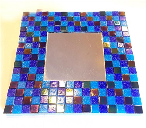 Mosaic Heaven Mosaic Mirror kit - Midnight Sea. Easy and fun to craft, great for adults, children, schools, beginner and expert mosaic artist