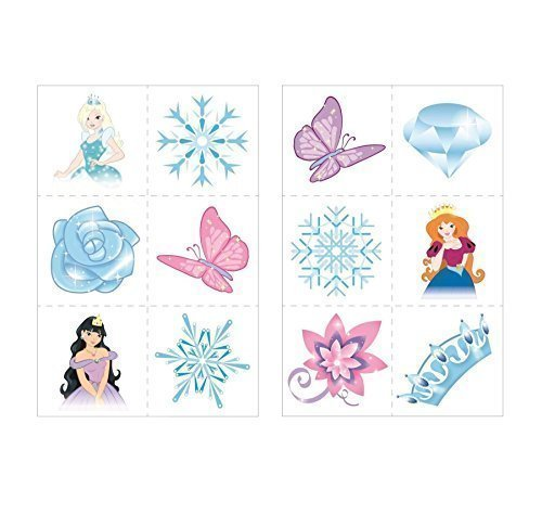 24-x-ice-princess-snow-queen-temporary-tattoos-children-girls-party-bag-stocking-filler-toy