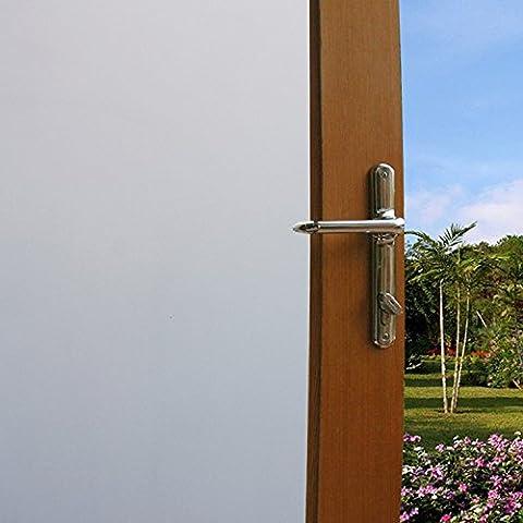 Concus-T Statique Ne Colle Aucun Adhésif Vinyle Premium Décoratif Blanc Givré Privacy Film Fenêtre 60x200cm