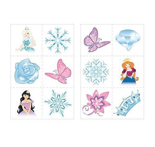 24 x Glace Princess Neige Reine Tatouage Temporaire Enfants Filles Sac De Fête Cadeaux Pour Chausettes De Noël Jouet