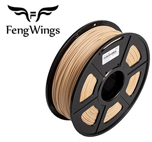 fengwings impresora 3d filamento Wood, 1.75mm 1kg, tolerancia 0,02mm–Calidad Premium, Madera, 1