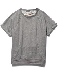 Under Armour de Fitness para mujer T-camiseta de manga corta para hombre Crew Terry Studio Gris Wgh/Mpt Talla:large