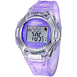 Silvercell Child Sports Multifunction Waterproof Electronic Wrist Watch Purple