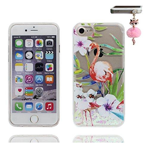 """iPhone 6S Plus Coque, Skin étui iPhone 6 Plus / 6S Plus 5.5"""", Design Glitter Bling Sparkles Shinny Flowing iPhone 6 Plus Case 5.5"""", résistant aux chocs & Bouchon anti-poussière Lis Lily # 6"""