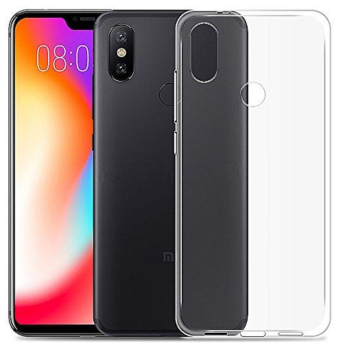 QULLOO Xiaomi redmi 6 Pro / Xiaomi caso capa Mi A2 Lite, TPU Soft Case Transparente [Ultra Light e Light] Silicone Case Ultra Fina para Xiaomi redmi 6 Pro / Xiaomi Mi A2 Lite