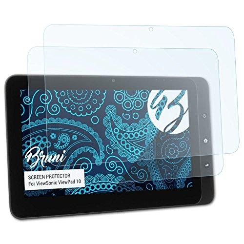 Bruni Schutzfolie kompatibel mit ViewSonic ViewPad 10 Folie, glasklare Displayschutzfolie (2X)