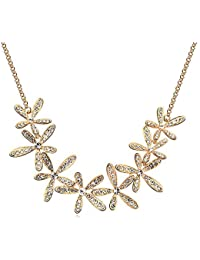 Silver Shoppee Magical Love 22K Yellow Gold Plated Cubic Zirconia Studded Alloy Necklaces For Girls And Women