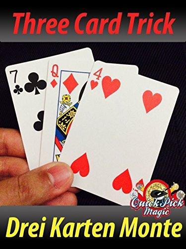 3 Karte Monte Zaubertrick mit Fahrrad Karten / Wundervoll Karte Zaubertrick / 3 Karte-trick