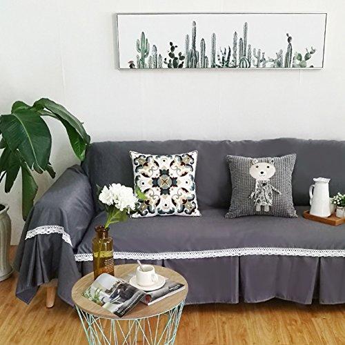 DSAQAO Funda de sofá Color Puro, 1 2 3 4 plazas Funda para sofá Cubierta Completa, Todo Incluido Toalla de sofá Protector de sofá de Animales domésticos-D 190x300cm(75x118inch)
