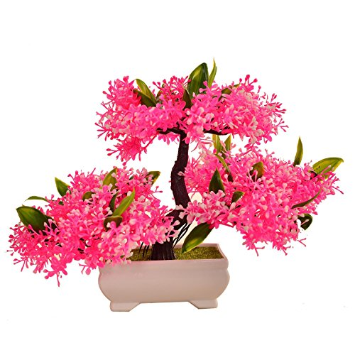 LWBAN-plant Plante Artificielle Bonsaï cèdre Artificiel en Pot, Arbre Artificiel/Bonsai déco, Hauteur 20 cm, 18
