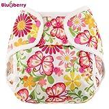 Blueberry Coveralls Couvre-lit en non-tissé Motif papillons