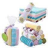 YeahiBaby Asciugamano Neonato Bambino Cotone Baby Bath Towel 8pcs