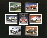 VW Golf GTI Classic Cars 1975–92–MK1, MK2, Cabriolet–Sammler Karten