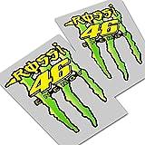 Valentino Rossi 46` Rossi Energie ` ` Reflektierende Blasen Grafik x 2